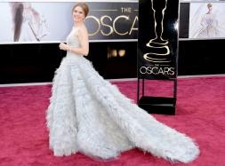 Amy Adams in Oscar de la Renta, Oscars 2013