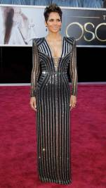 Halle Berry arrives at the 85th Academy Awards in Hollywood