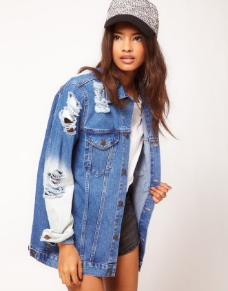 ASOS Oversized Denim Boyfriend Jacket