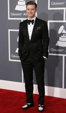 2013 - Attending the Grammy Awards in a shiny tuxedo