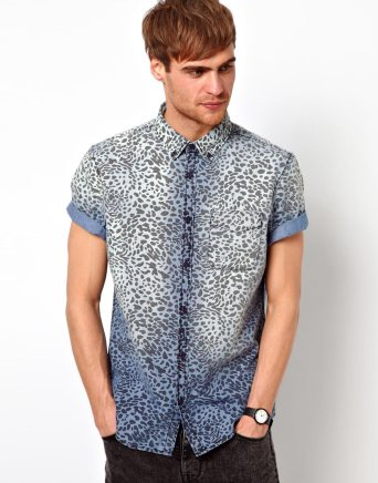 River Island Leopard Shirt