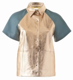 Leather Shirt (Gold)