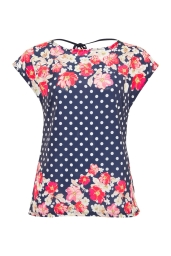 Cowl Floral Spot Tee