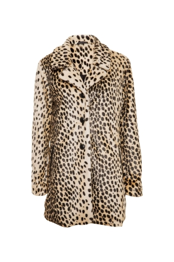 Long Leopard Fur Coat
