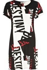 RIVER ISLAND Black Destiny Print Tshirt Dress €25