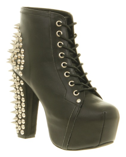 JEFFREY CAMPBELL Lita Platform Ankle Boot Black Spike €179