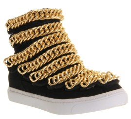 JEFFREY CAMPBELL Malta Hi Top Black Gold Chains €131