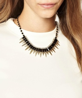 ASHIANA Spike And Crystal Statement Necklace €26.03