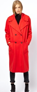 ASOS Limited Edition Poppy Red Longline Coat €156.16