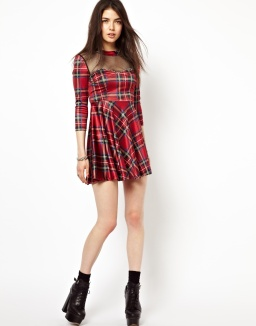 FREAK OF NATURE Lost And Bound Tartan Dress €71.57