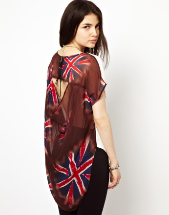 FREAK OF NATURE Live Fast Top With Drape Back €45.55