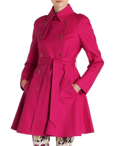TED BAKER Full Skirt Trench Coat €273