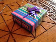 Gift-wrapped box