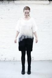 4/704 Tide dyed twist sleeve dress
