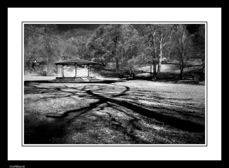 Phoenix Park Bandstand, Ireland. Black And White Photograph €20 http://craftbay.ie/Product/881/Art/Photography/Phoenix-Park-Bandstand-Ireland-Black-and-White-Photograph