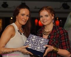 Samantha & Caoimhe, winning her gift set