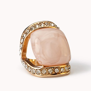 Forever 21 €3.90 - Rhinestoned Faux Marble Ring