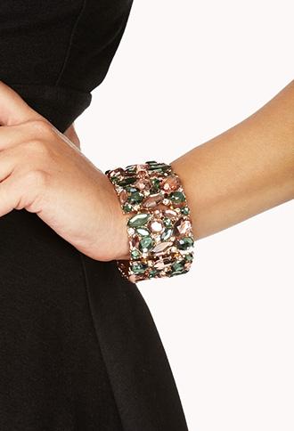 Forever 21 €12.90 - Colorful Rhinestone Bracelet