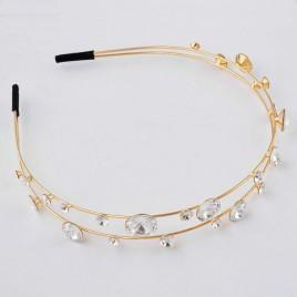 Jasper Jewellery €55 - Swarovski Diamond Tone Hairband Gold