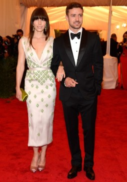 2012 - Attending the MET Gala with his now-wife Jessica Biel, in a dapper tuxedo. NAILED IT!