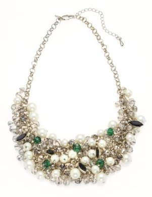 Marks & Spencers €34 - M&S Collection Faux Pearl Sparkle Cluster Necklace
