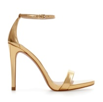 Zara €69.95 - Metallic Strappy Sandals