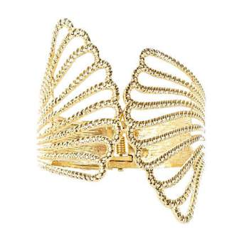 River Island €13 - Gold Textured Angel Wings Cuff