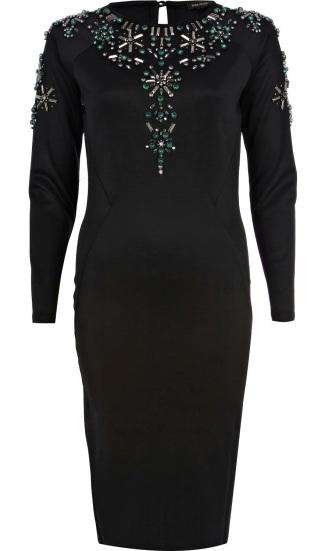 River Island €45 - Embellished Bodycon Longsleeve Dress