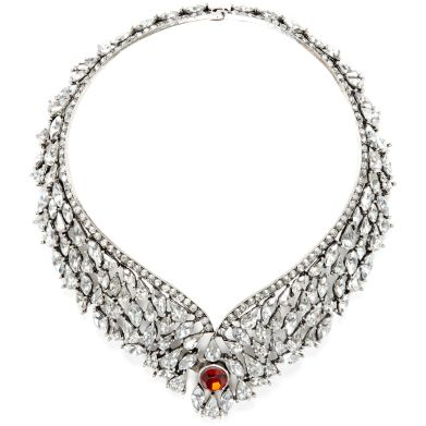 River Island €29 - Silver Gemstone Plate Necklace