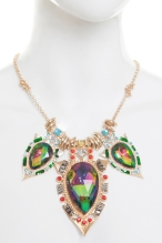 A|Wear €20 - Colourful Gemstone Statement Necklace