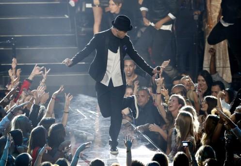 Performing his medley