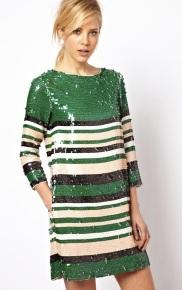 ASOS €113.22 - Sequin Stripe Tee Dress