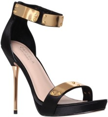 Carvela €155 - Glide Gold Bar Sandals