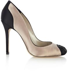 Karen Millen €167 - Graphic Black & White Peeptoes