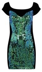 Lashes of London €150 - Zane Sequin Sweetheart Mini Dress