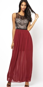 Lipsy €101 - Cornelli Trim Chiffon Maxi Dress