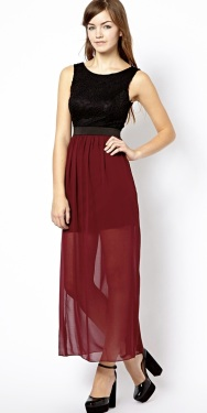 New Look €34 - Maxi Dress With Lace Top