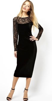 Ted Baker €241 - Lace Sleeves & Neckline Midi