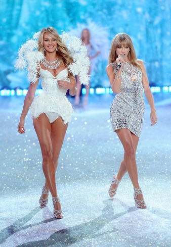 VS Fashion Show 2013: Candice Swanepoel & Taylor Swift