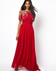 Virgos Lounge €128 - Raina Maxi Dress with Embellished Shoulder