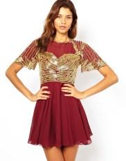 Virgos Lounge €121 - Catrin Skater Dress with Embellishment