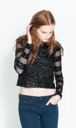 Zara €39.95 - Fantasy Stripe Top http://www.zara.com/ie/en/trf/shirts/fantasy-stripe-top-c269211p1667409.html