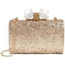 Ted Baker €155 - Karsie Glitter Hardcase Jewelled Clutch http://tinyurl.com/okfymke