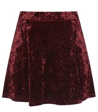 Topshop €47 - Red Crush Velvet Skirt