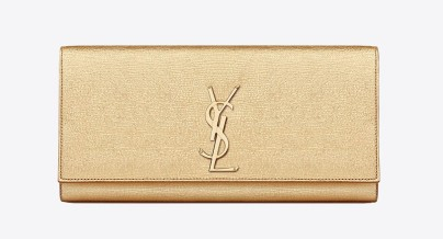 Saint Laurent €725 - Classic Monogramme YSL Textured Metallic Clutch http://tinyurl.com/nrvolj3