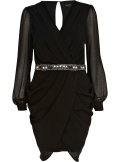 River Island €55 - Sequin Waist Draped Dress