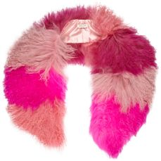 Pink Mongolian Fur Tippet http://tinyurl.com/ngolyo7