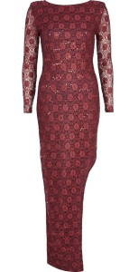 River Island €60 - Red Lace Sequin Maxi Dress http://tinyurl.com/nrnzfhp