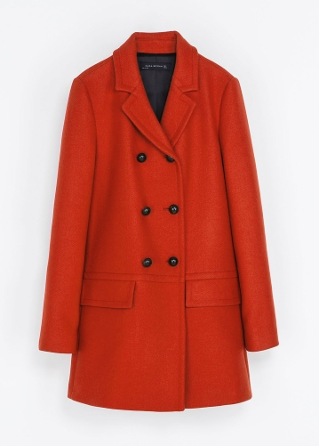 Zara €130 - Short Double Breasted Overcoat http://tinyurl.com/pe9upev