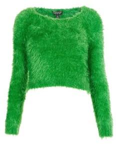 Topshop €55.86 - Gaga Textured Crop Sweater